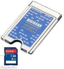 4GB Sandisk SD + SD SDHC SDXC to PCMCIA PC Card Adapter for Mercedes Benz