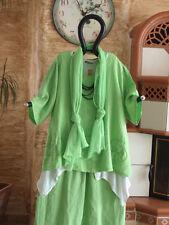 8202 LABASS Sommer 2016 3/4 Arm Leinen Shirt ANKE apfel grün Gr. XL 48 50