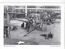 "*Postcard-""The SB2C Helldiver"" -Wartime Production- ...St. Louis Aviation (#61)"
