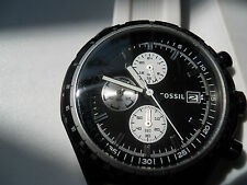 Fossil chronograph mens silicon rubber band Analog,Dress watch.Ch-2778