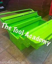 APRIL SALE! HI VIS GLOW UP GREEN 530mm LONG CANTILEVER TOOLBOX WITH HANDLE
