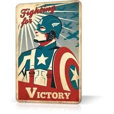 METAL TIN SIGN CAPTAIN AMERICA RETRO RUSTED Vintage Decor Home Bar Garage Wall