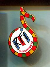 RARE PINS PIN'S .. TOURISME EXPO SEVILLE AMERICA COLON COLOMB 1492 RADIO RFI ~CT