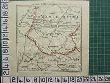 1901 BOER WAR MAP ~ ORANGE RIVER COLONY SOUTHERN PART ~ BLOEMFONTEIN CONAN DOYLE