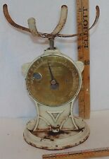 Vintage Cast Iron Basket Top Salter Trade Spring Balance Scale #50T England 2 lb