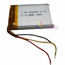 3.7 V 900 mAh  rechargeable Lithum Liion Battery Li-po 3wire for GPS PSP  603443