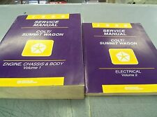 1996 Dodge Colt Eagle Summit Wagon OEM Service Manuals