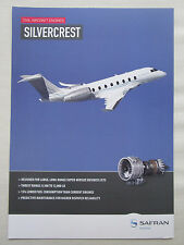 2013 DOCUMENT RECTO VERSO SAFRAN SNECMA MOTEUR SILVERCREST CIVIL ENGINE