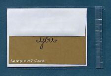 """100 Clear Self Resealable A7 Card Envelopes Poly Bags  5 1/2"""" x 7 1/2"""", 1.5 mil"""