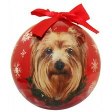 Yorkshire Terrier Christmas Ornament Yorkie Shatter Proof Ball Dog Snowflakes