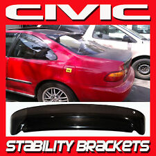 92-95 Civic Coupe Rear Roof Window Visor with Stability Brackets - Sun Deflector
