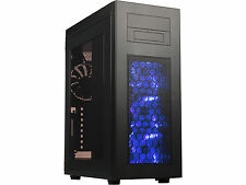 Rosewill RISE Glow Black ATX Full Tower Computer Case with 4 Fans and Blue LED