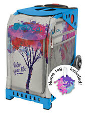 ZUCA Bag COLOR YOUR LIFE Insert & Blue Frame w/Flashing Wheels - FREE CUSHION