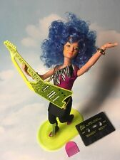 Jem & the Holograms STORMER doll, Stand, Clothes, Tape & Guitar vintage Hasbro