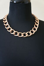 NEW Celebrity Jewelry Designer Lisa Freede Rose Gold Riley Chain Link Necklace