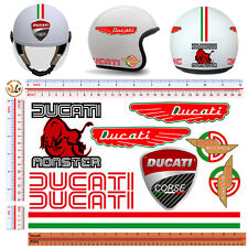 adesivi casco ducati monster stickers helmet motorcycle tuning decal 9 pz.