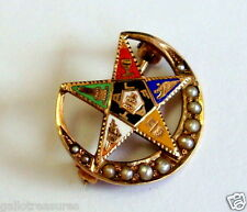 14K YELLOW GOLD THE EASTERN STAR VINTAGE MASONIC PIN