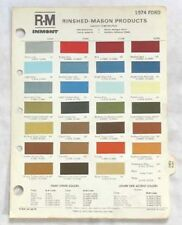 1974 FORD R-M  COLOR PAINT CHIP CHART ALL MODELS ORIGINAL   MUSTANG