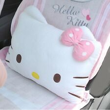 Hello Kitty Face Cushion Car Seat Back Support Pillow Plush Home Décor Car