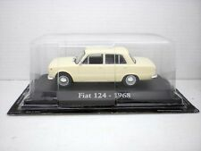 COCHE FIAT 124 MARRON CLARO 1/43 1:43 METAL CAR SEAT MINIATURA alfreedom diecast