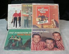 Lot 5 Vintage VINYL RECORD ALBUM LPs THE KINGSTON TRIO HUNGRY I Sold Out VOL.II