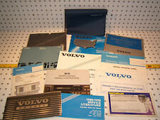 Volvo 1990 240DL Owners's OEM 1 set of 13 Manuals/ Papers Volvo Blue OEM 1 Pouch