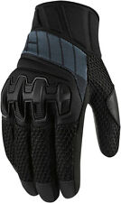 ICON OVERLORD Mesh Leather/Textile Short Motorcycle Gloves (Stealth) L (Large)