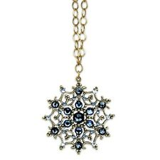 "ANNE KOPLIK SWAROVSKI CRYSTAL 30"" VICTORIAN STYLE SNOWFLAKE NECKLACE ~~USA MADE~"