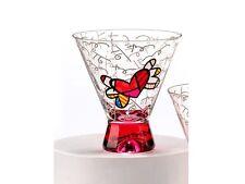 ROMERO BRITTO SHORT MARTINI GLASS: RED BASE ** NEW ** GIFT BOXED