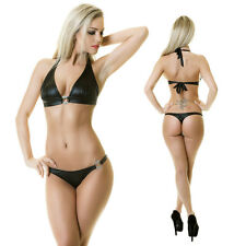 SEXY GOGO WETLOOK BIKINI STRASSRING GOLD MADE IN EU ONE SIZE