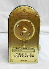 Desktop Brass Faced Weather Forecaster / Barometer / Weather Station - BNIB