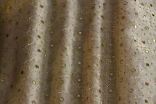 "Mirror Embroidery Metallic Silk Organza Fabric 44"" Wide, By The Yard (EB-917B)"