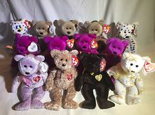 MWMT Beanie Babies lot#22 13 Annual Bears: Signatures 99 01-04 Millennium, Ty 2K