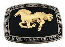 Horse Belt Buckle Women Ladies Cowgirl Rodeo Large Western Costume Metal Fashion