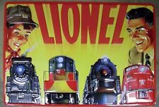 """LIONEL RAILROAD """"FATHER & SON""""  TIN SIGN / Train Wall Collectible Decorations"""