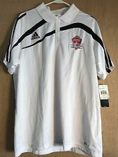 "NWT Adidas Clima365 ClimaLite Tiro CL Polo men's XL white black ""Colorado Rapids"