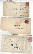 Canada 3 Early Covers to USA Rough Condition