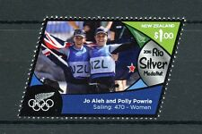 New Zealand NZ 2016 MNH Rio Silver Medal Jo Aleh Sailing 1v Set Olympics Stamps