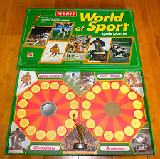 Vintage Merit World of Sport Quiz Game C.1980's Rare Boxed 100% Complete