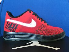 Nike Lunar Force 1 sz 9 Fuse Chicago BULLS Jordan Black Red Gym Bred Cement