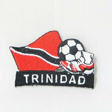 TRINIDAD SOCCER FOOTBALL KICK COUNTRY FLAG EMBROIDERED IRON-ON PATCH CREST BADGE