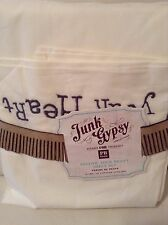 Pottery Barn Teen Junk Gypsy Follow Your Heart Twin/XL Twin Sheet Set Ivory 3 Pc
