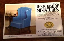 1/12 CHIPPENDALE WING CHAIR KIT #40016 HOUSE OF MINIATURES NEW FACTORY SEALED