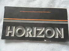 1979 Plymouth Chrysler Horizon Owners Manual