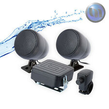Waterproof Motorcycle/ATV Audio System Speakers + 3 Inch 40W 2 Channel Black
