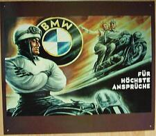 Älteres Blechschild  Motorrad BMW  Werbung Reklame gebraucht used