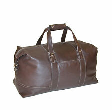 "COACH Glove Tanned Brown 24"" Leather XLG Cabin Duffle Carry-On Bag ~H1193-F05J03"