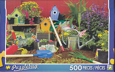 NEW Puzzlebug 500 Piece Puzzle - Colorful Garden Tools - FREE SHIPPING