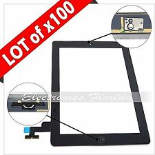 Lot of 100 Black Screen Glass Digitizer replacement for iPad 2 A1395 A1397 A1396