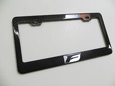 Brand New 100% REAL CARBON FIBER LICENSE PLATE FRAME Lexus F Sport IS *F